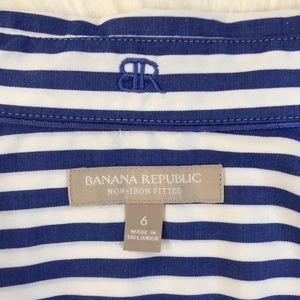 Banana Republic Tops - BR 🌴 Non-Iron Fitted Striped Button Down Shirt
